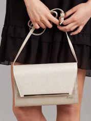 Złota damska torebka kopertówka