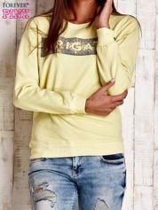 Żółta bluza z napisem ARIGATO