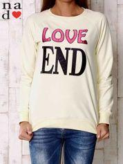 Żółta bluza z napisem LOVE END