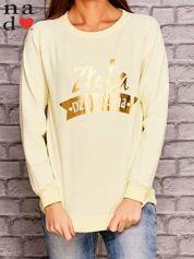 Żółta bluza z napisem ZŁOTA DZIEWCZYNA
