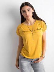Żółta koszulka z napisem