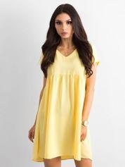 Żółta luźna sukienka