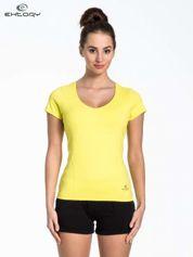 Żółty t-shirt sportowy basic PLUS SIZE