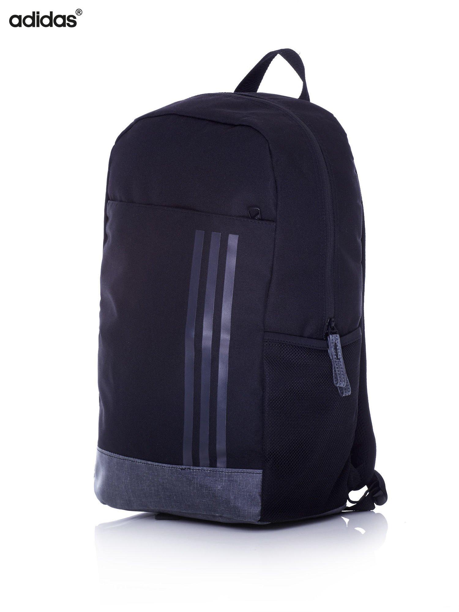 0268c50c8f6f7 ADIDAS Czarny plecak szkolny z bocznymi kieszonkami - Dziecko Plecaki -  sklep eButik.pl