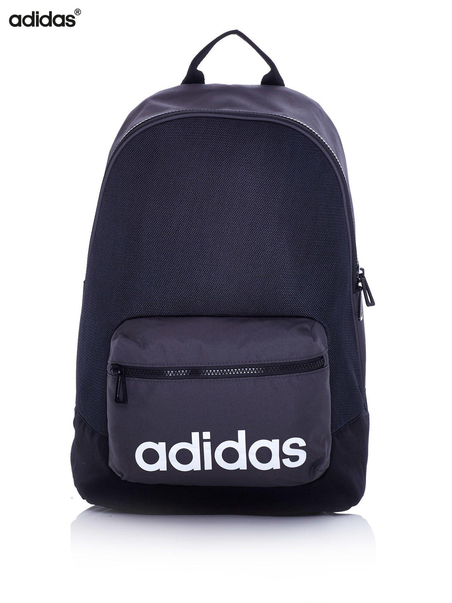 58345a85694b0 ADIDAS Czarny szkolny plecak z ozdobną kieszenią - Dziecko Plecaki ...