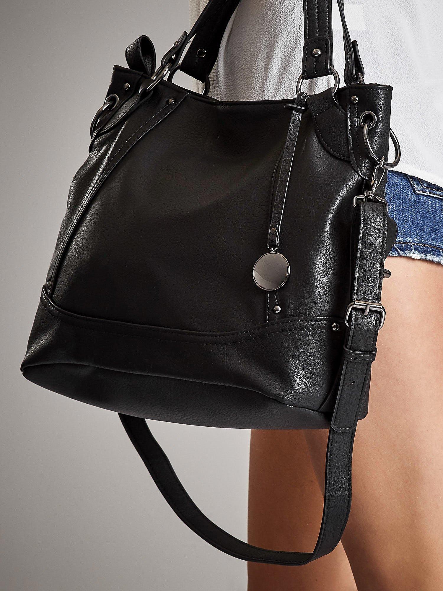 0a52e6001dcfc ANNA FIELD Skórzana torebka miejska z odpinanym paskiem - Akcesoria ...
