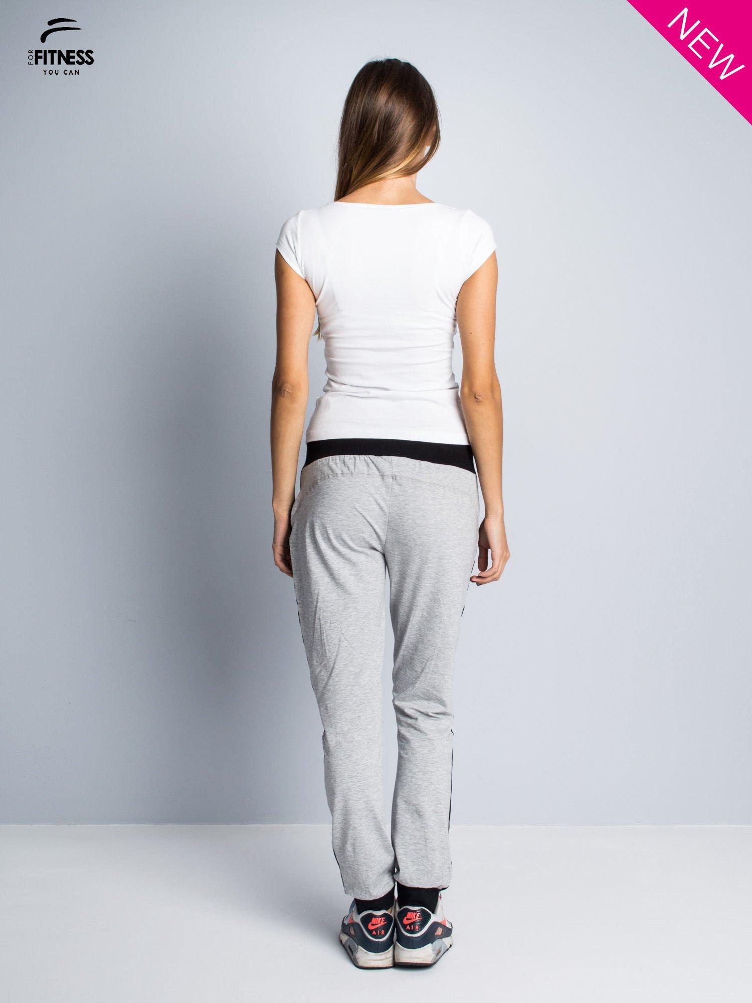 Bawełniana biała bluzka na krótki rękaw FOR FITNESS                                  zdj.                                  5