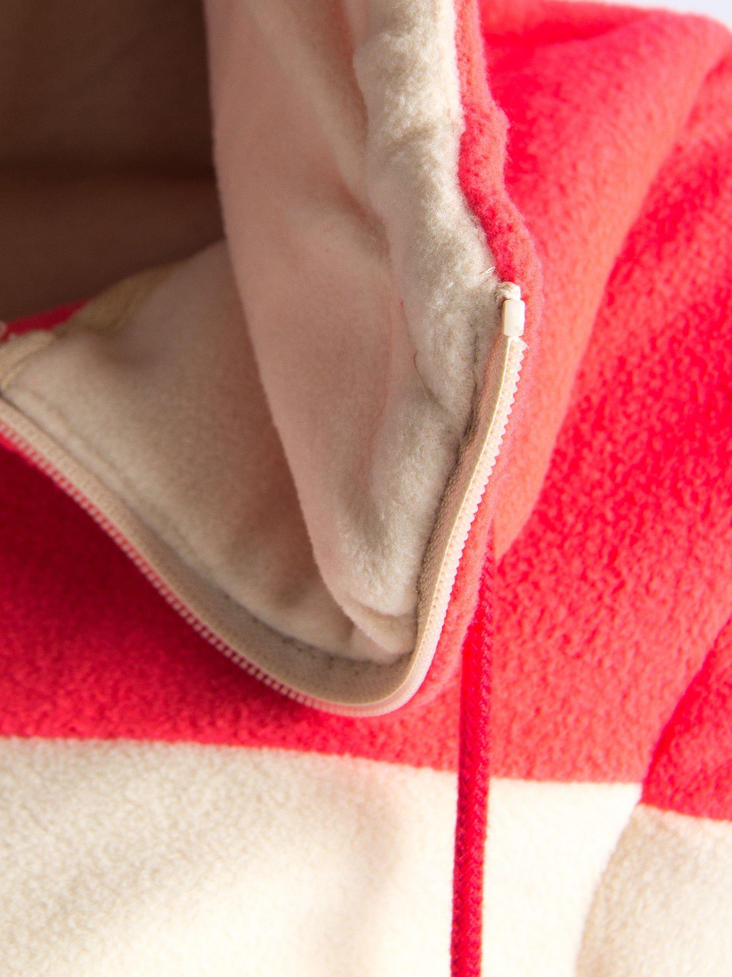 Beżowa bluza polarowa z kapturem z uszkami                                  zdj.                                  12