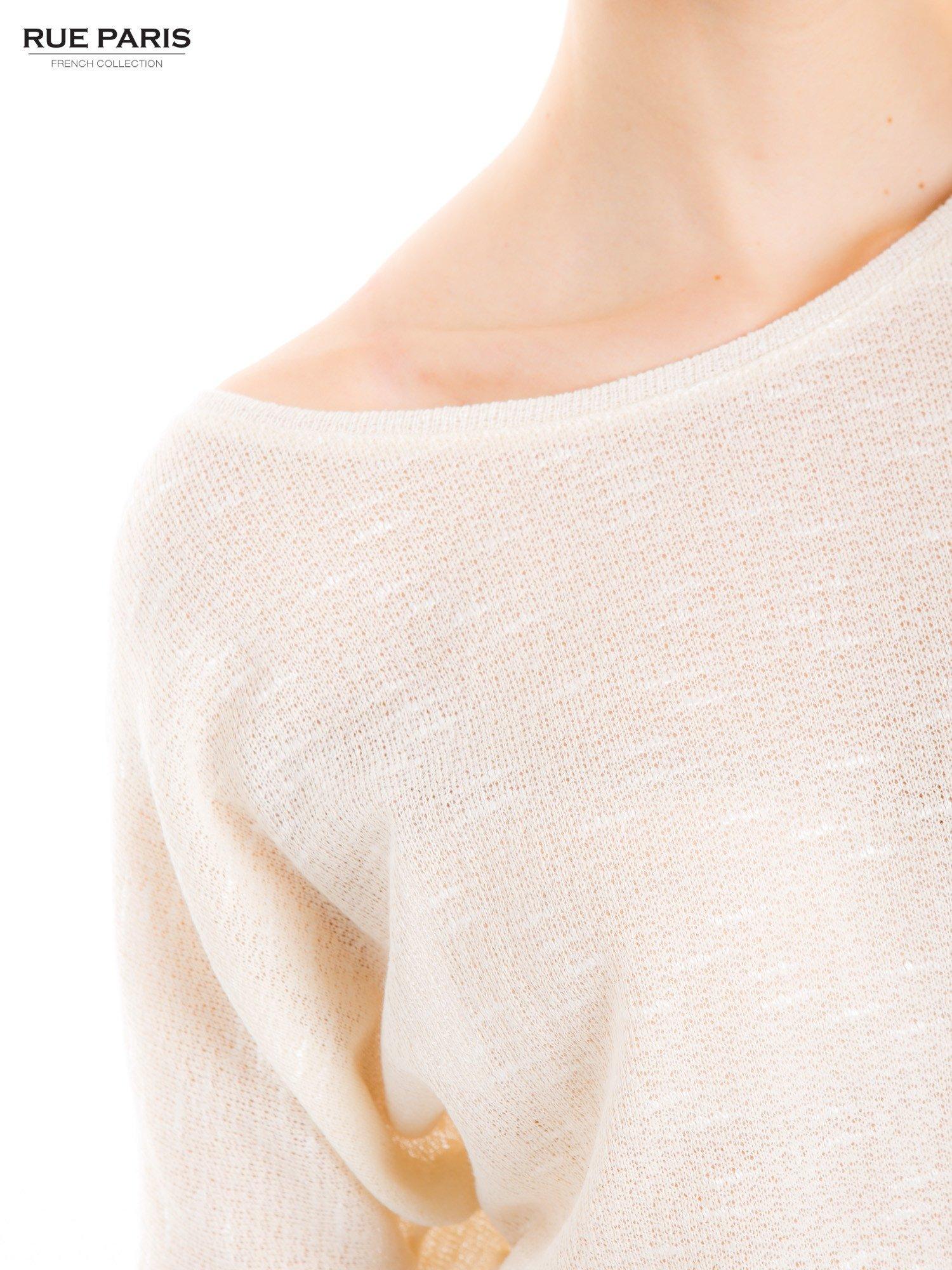 Beżowa bluzka o luźnym kroju                                  zdj.                                  6