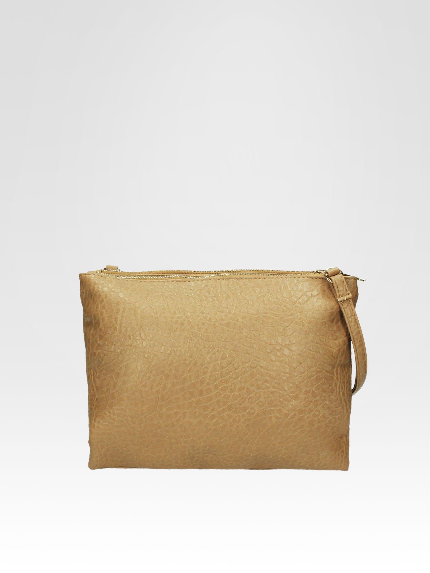 Beżowa torebka dwukomorowa z paskiem                                  zdj.                                  1