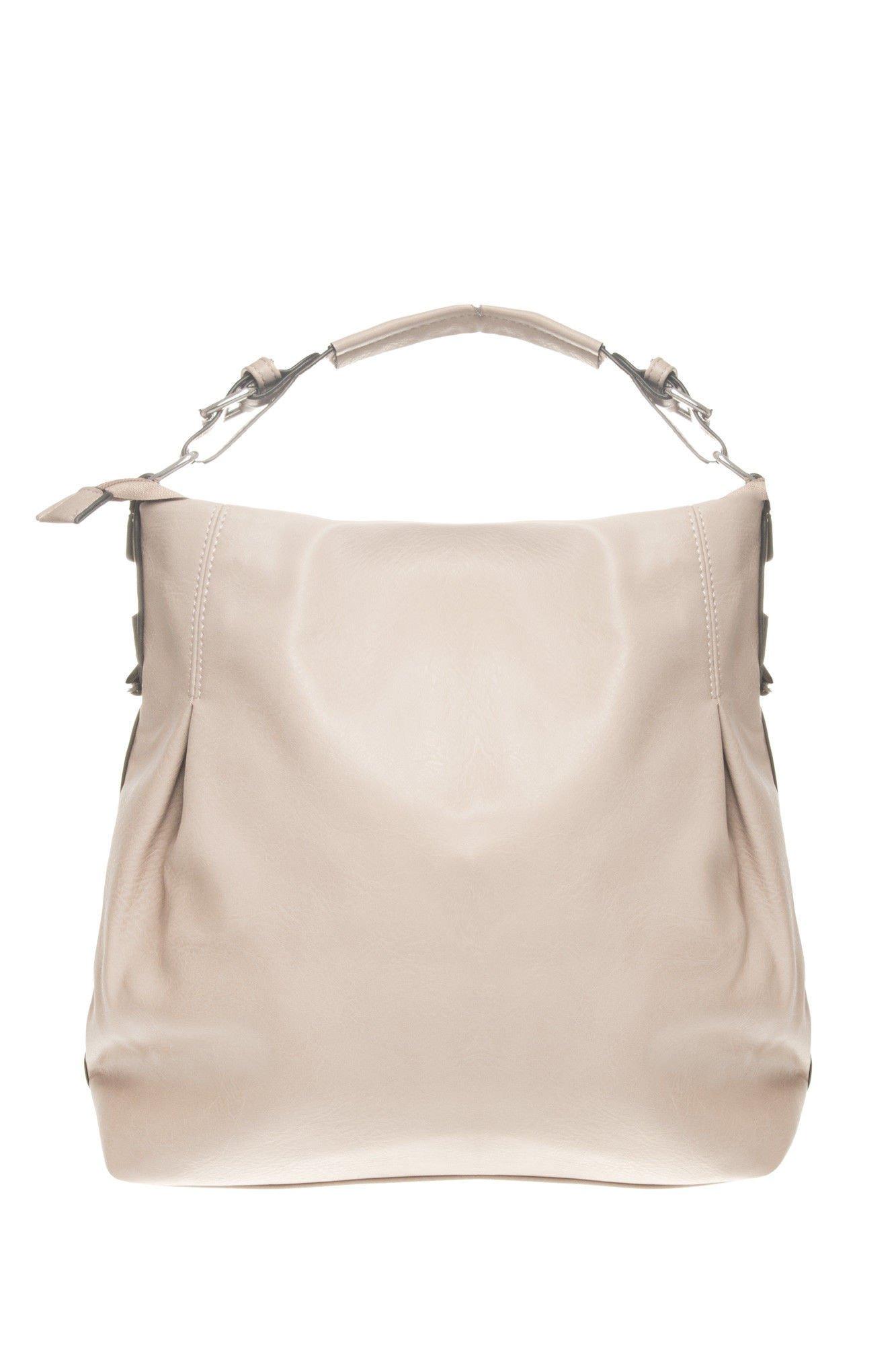 Beżowa torebka hobo na ramię                                  zdj.                                  1