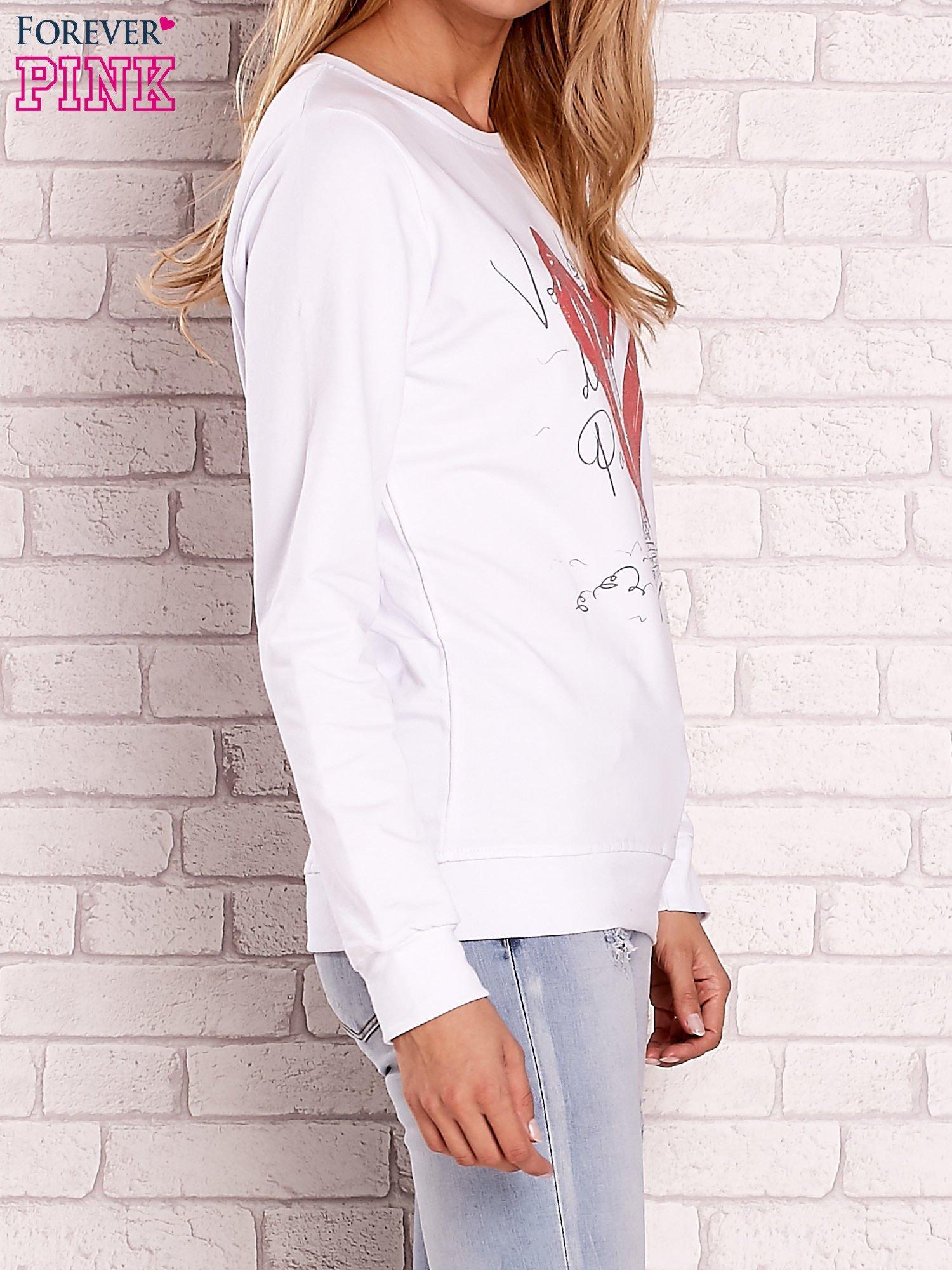 Biała bluza z motywem paryskim                                  zdj.                                  3