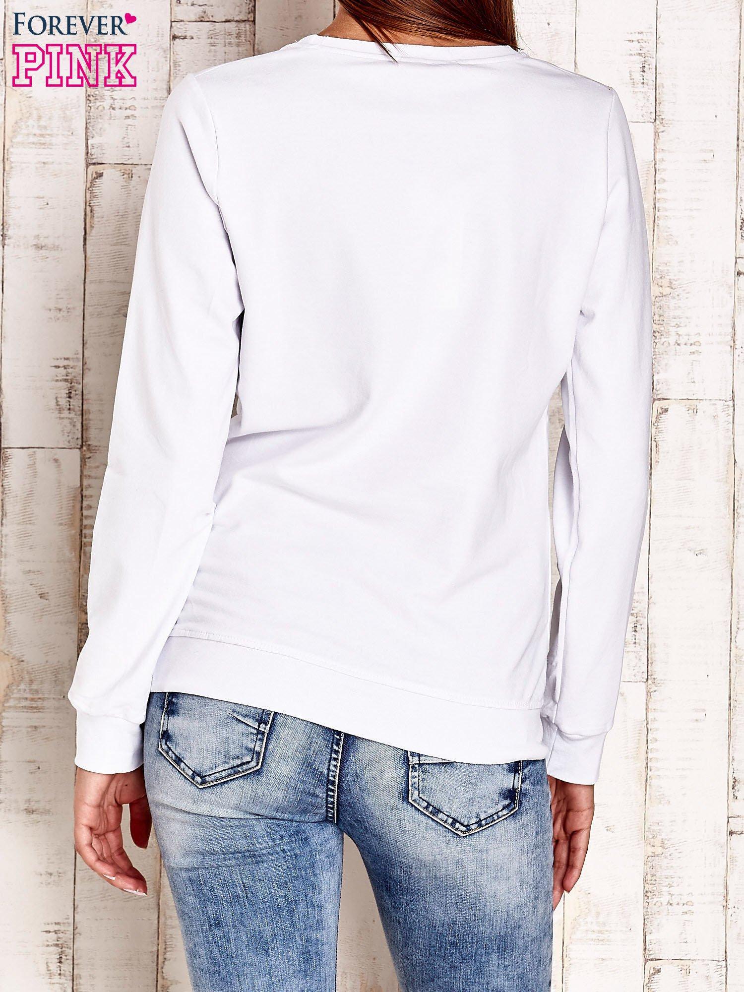 Biała bluza z napisem NO LIMITS                                  zdj.                                  2