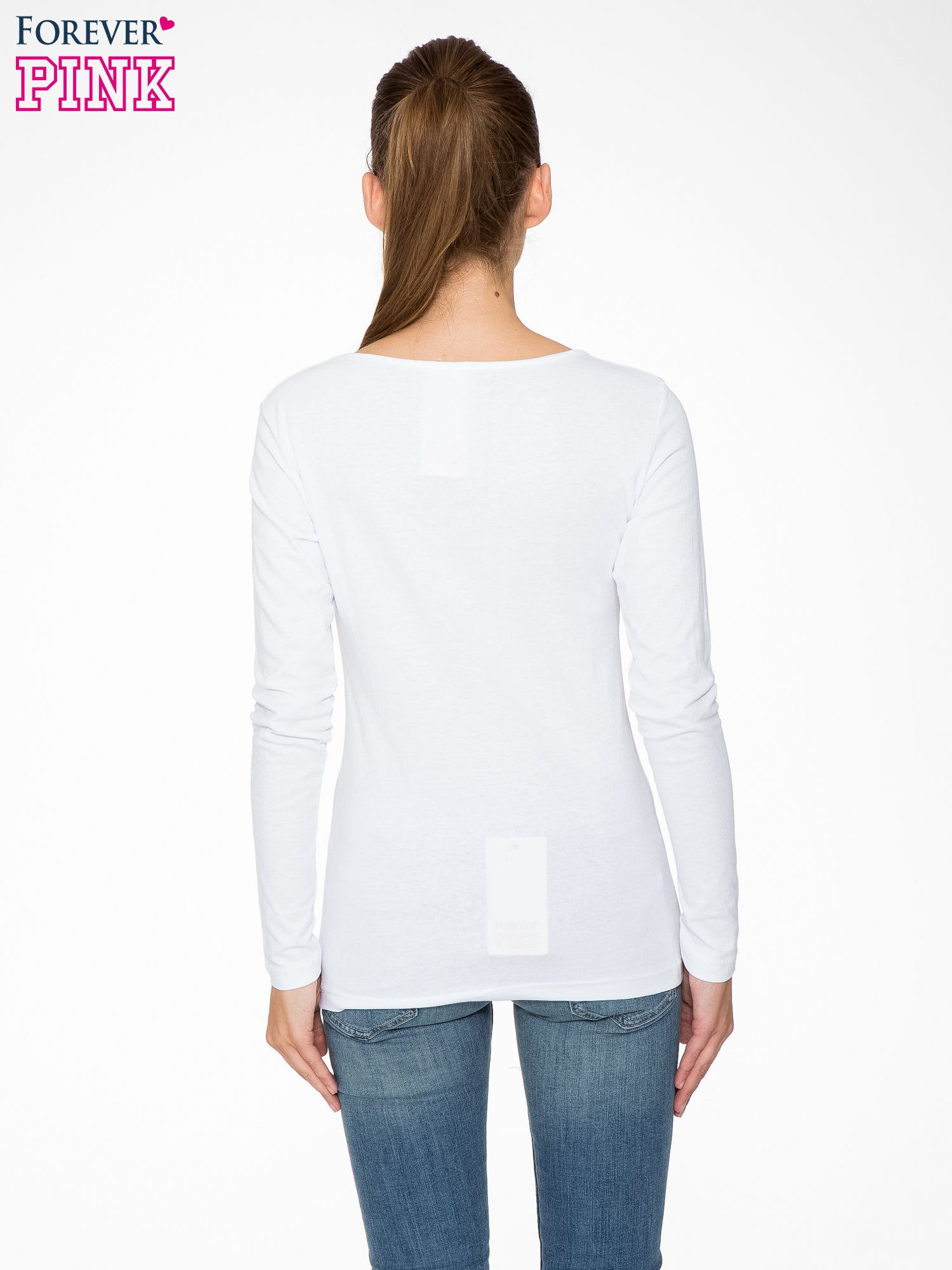 Biała bluzka z nadrukiem pandy                                  zdj.                                  4