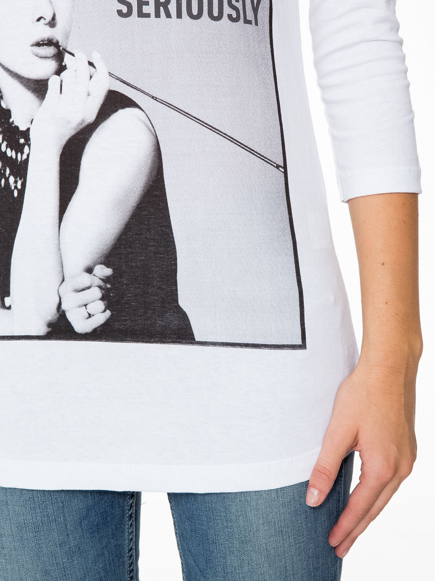 Biała bluzka z portretem Audrey Hepburn                                  zdj.                                  7