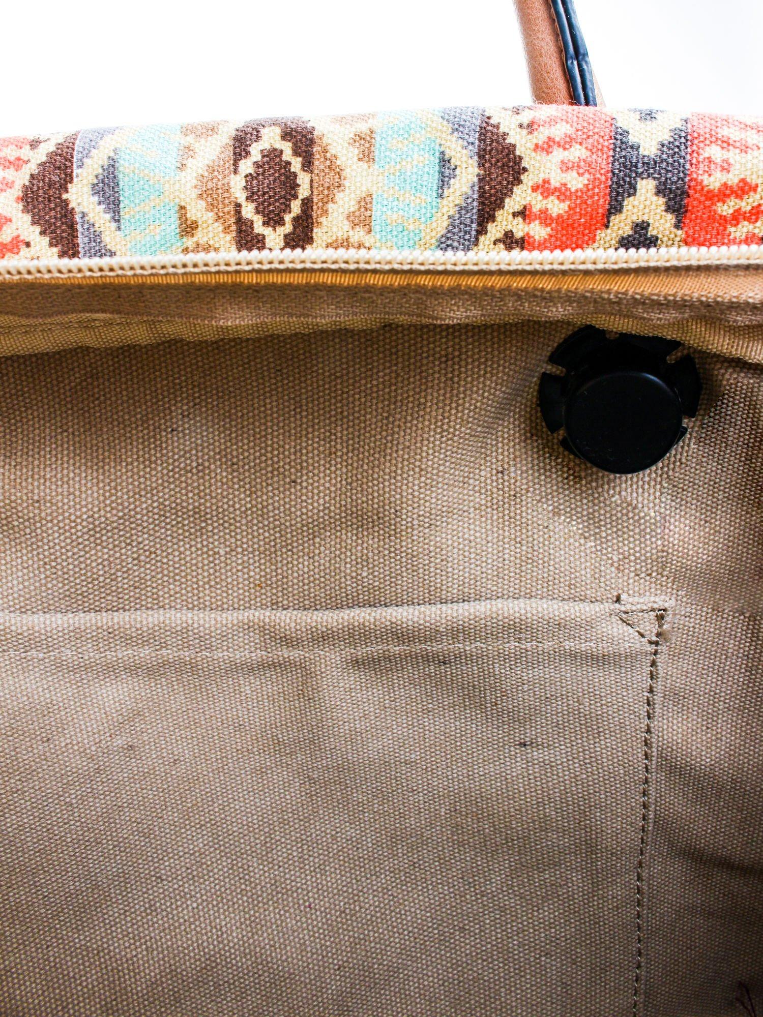 Biała torba gumowa z motywem azteckim                                  zdj.                                  8