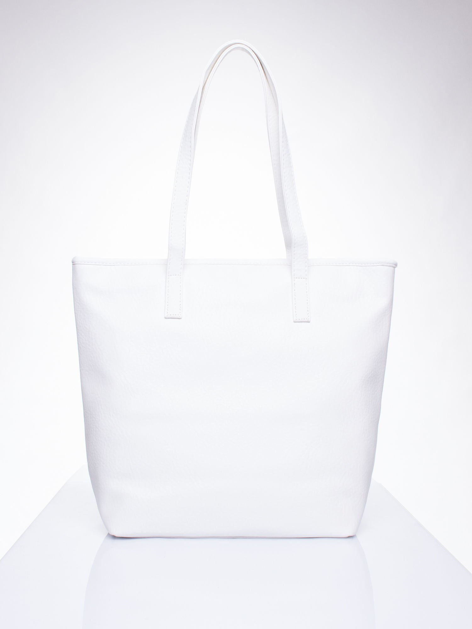 Biała torebka shopper bag z kokardką                                  zdj.                                  4
