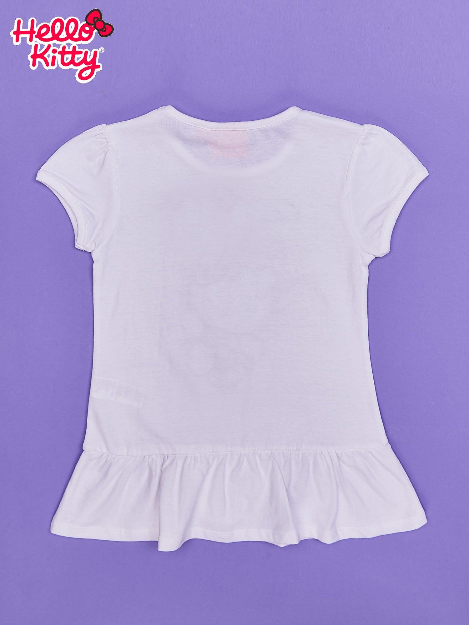 Biała tunika dla dziewczynki nadruk HELLO KITTY                                  zdj.                                  2
