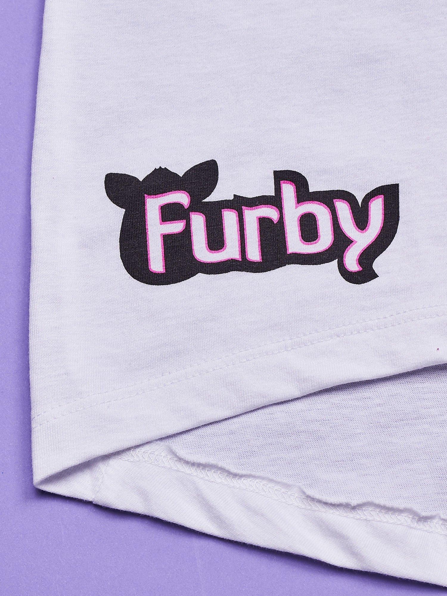 Biała tunika dla dziewczynki z nadrukiem FURBY                                  zdj.                                  3