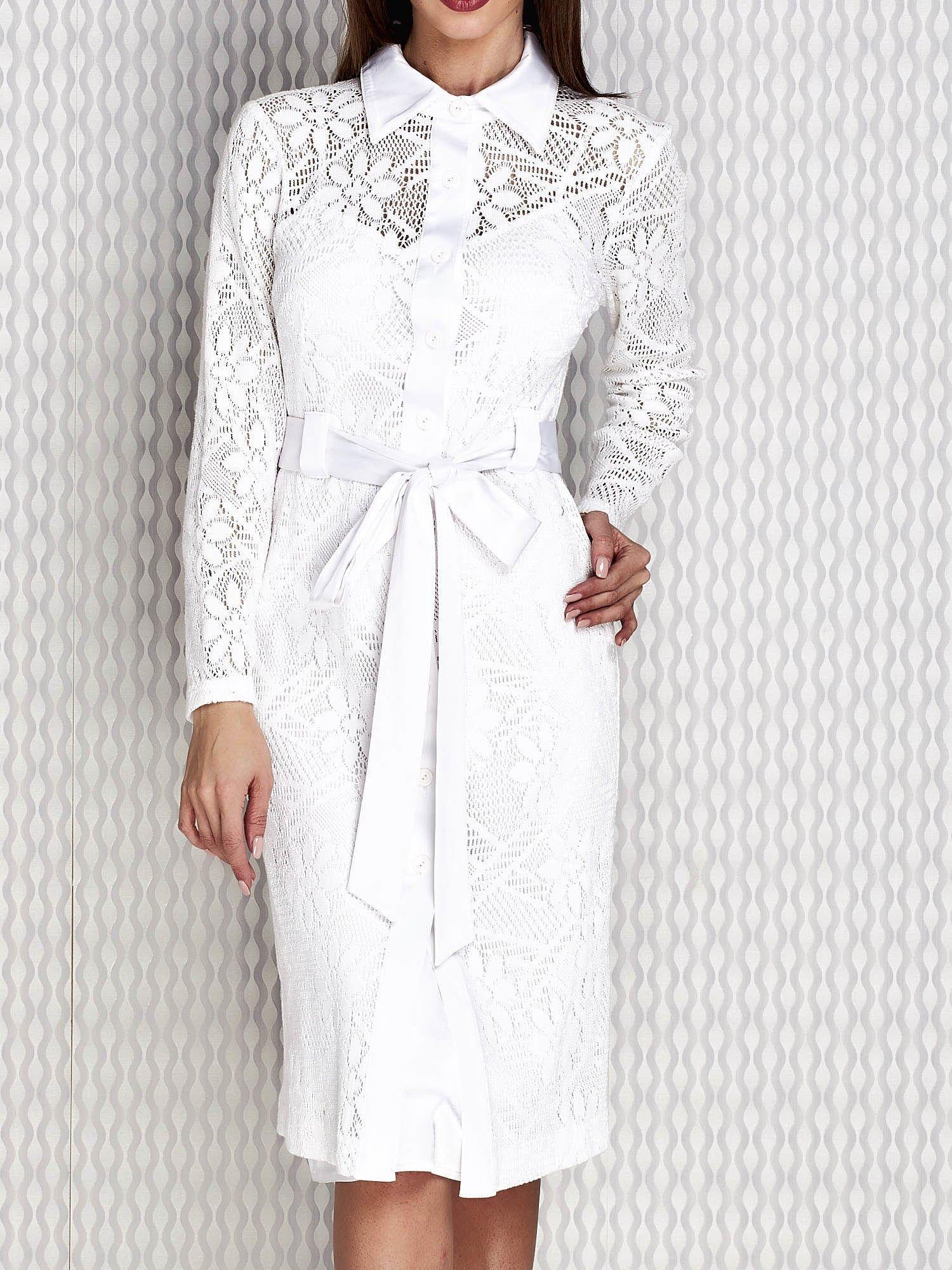 43fbb6038e Biała warstwowa sukienka koktajlowa - Sukienka koktajlowa - sklep ...
