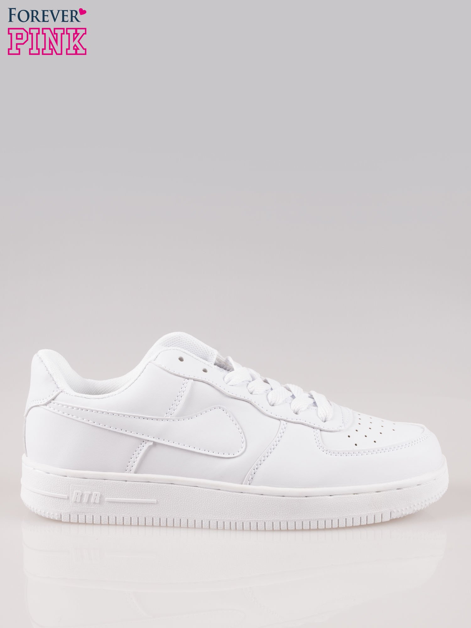 Białe buty sportowe na grubej podeszwie                                  zdj.                                  1