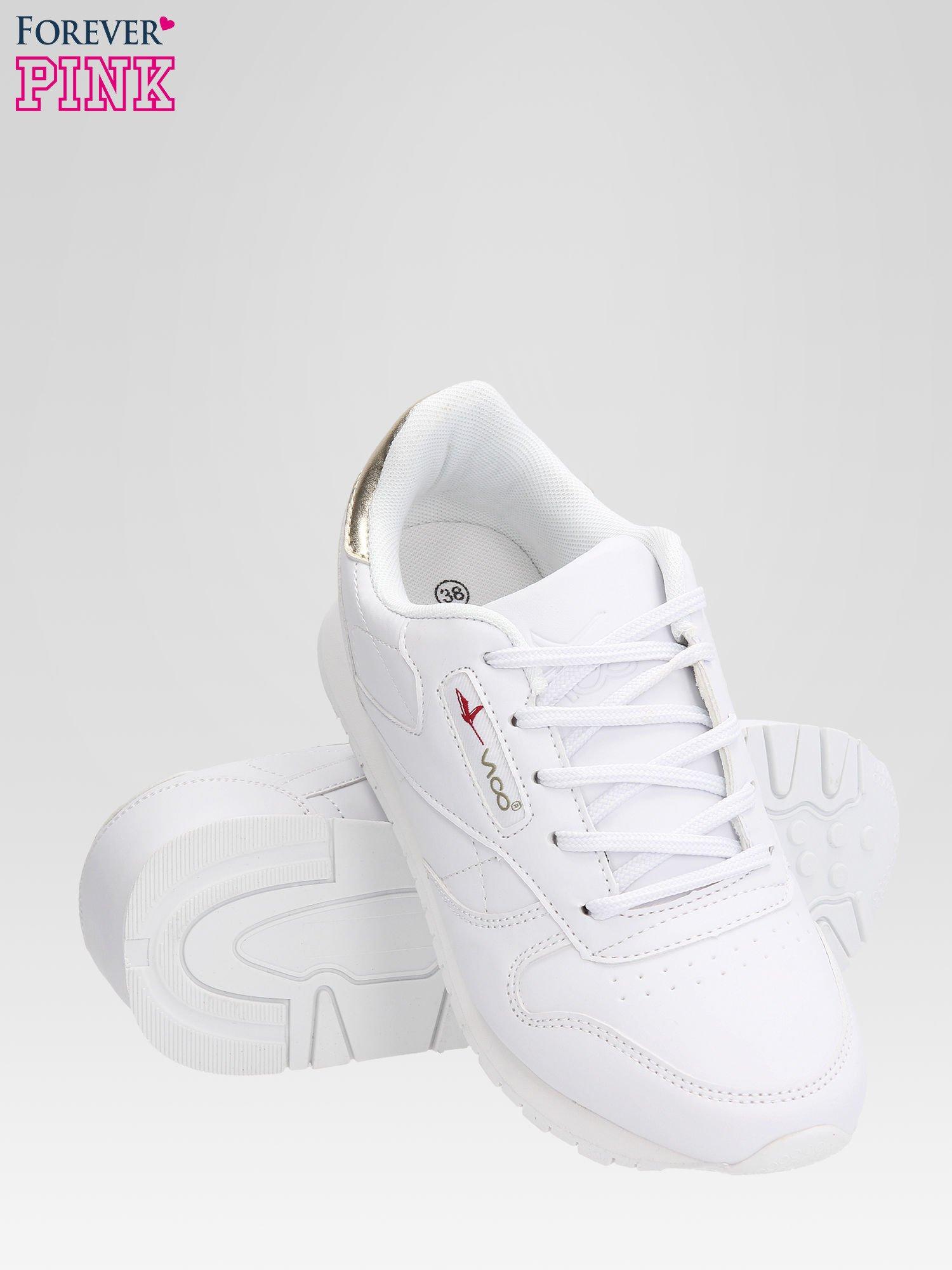 Białe buty sportowe ze złotym zapiętkiem                                  zdj.                                  4