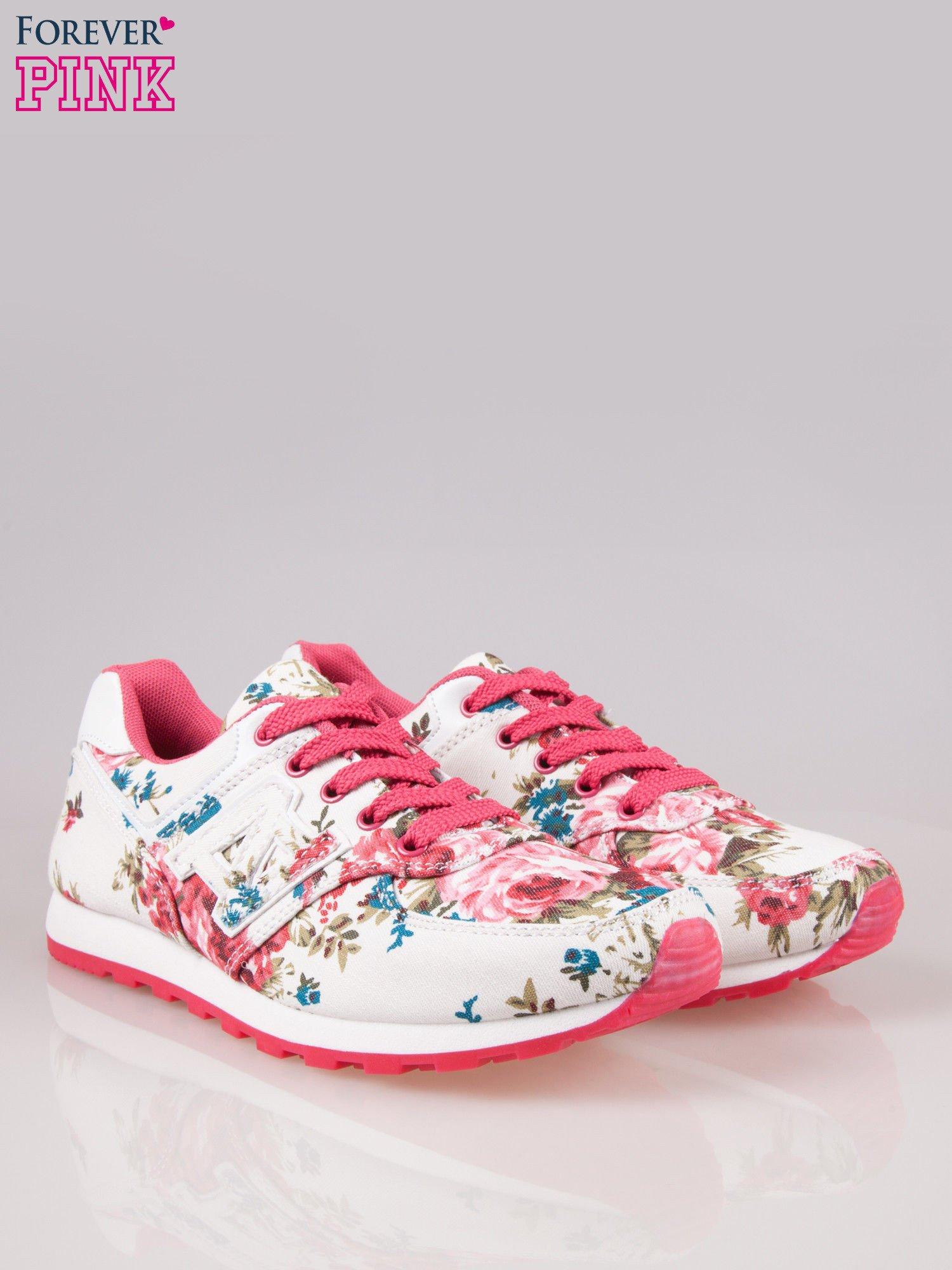 Białe kwiatowe buty sportowe Floral Fresh                                  zdj.                                  2