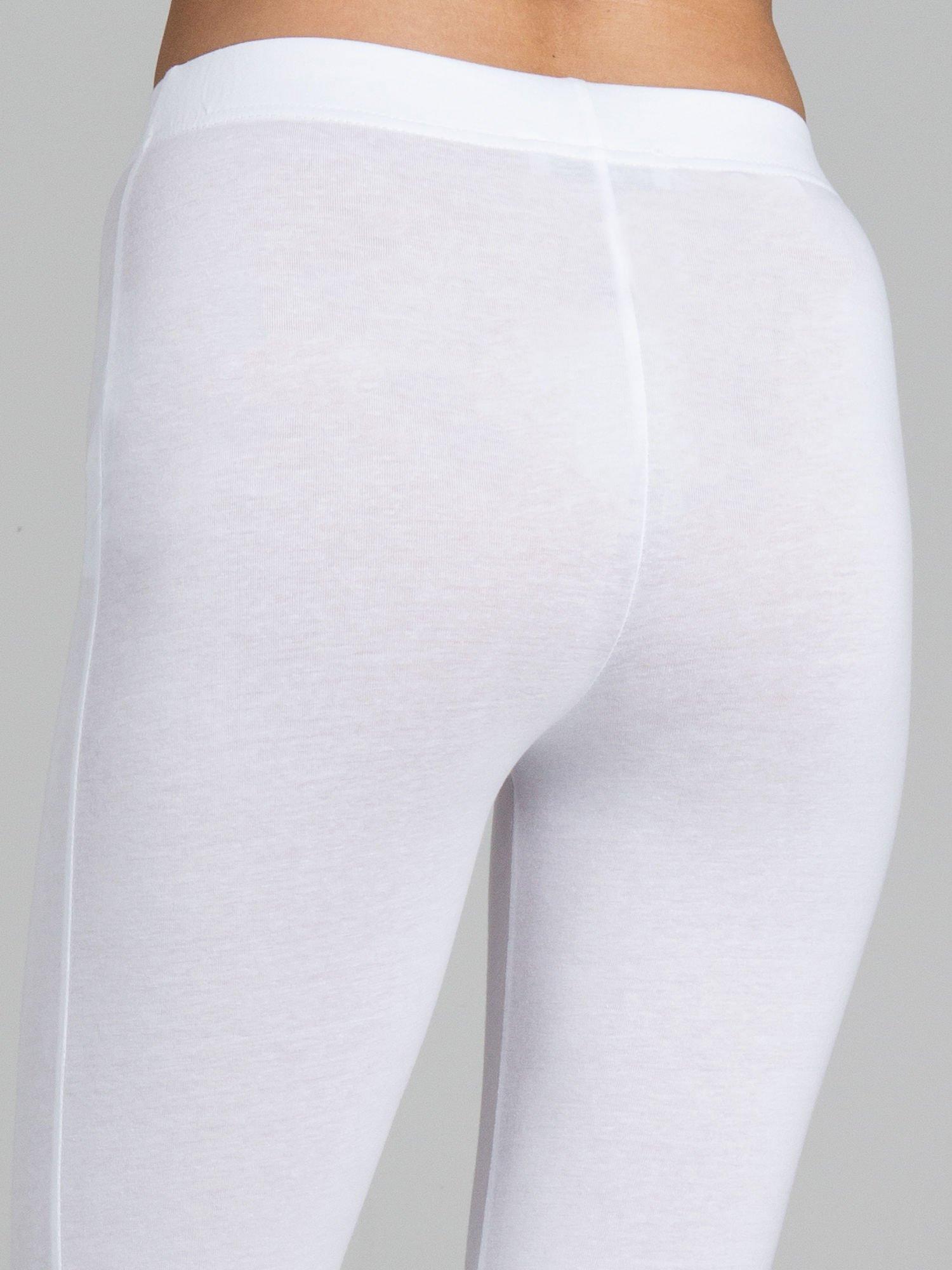 Białe legginsy ze złotym suwakiem na dole                                  zdj.                                  7