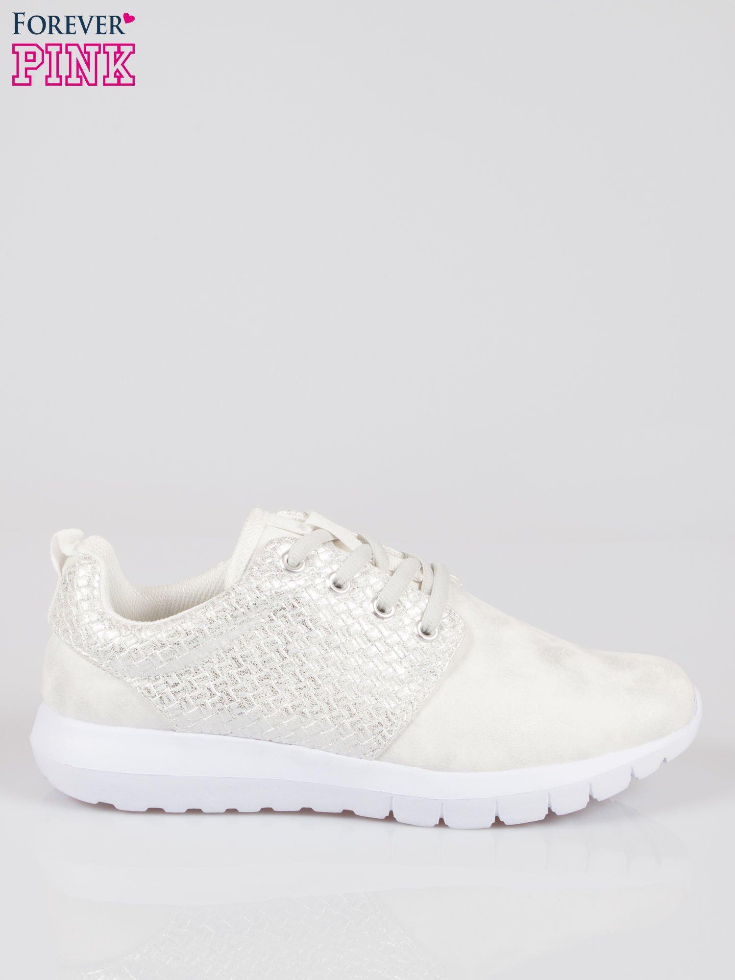 Białe plecione buty sportowe duo Split Up