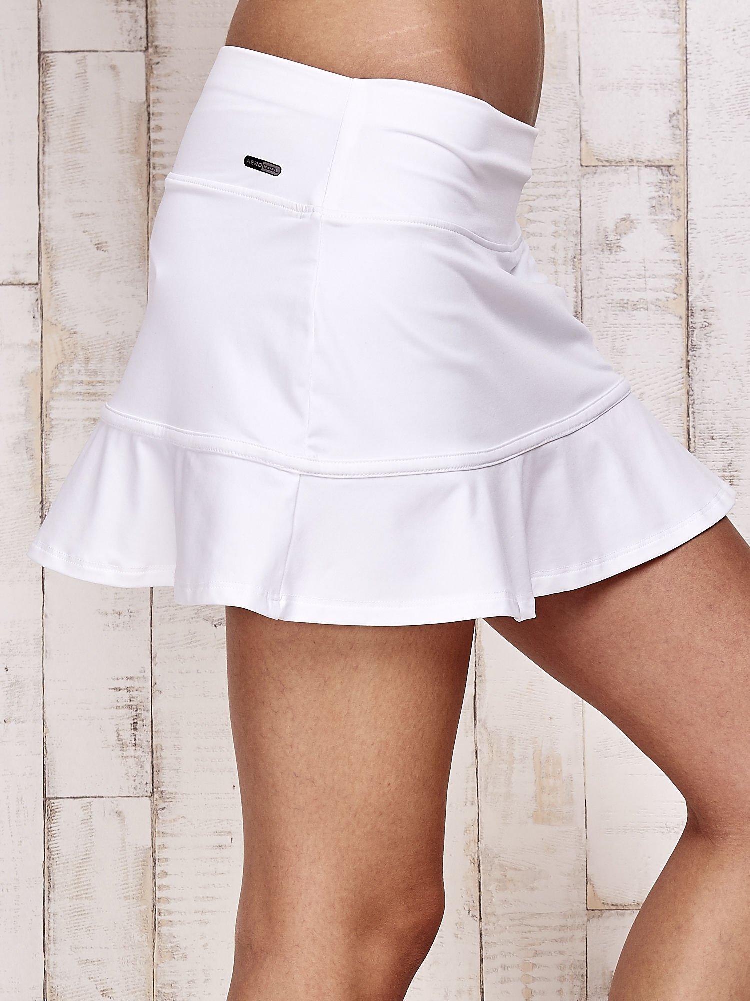 Białe spodenki spódniczka tenisowa z falbanką                                  zdj.                                  5