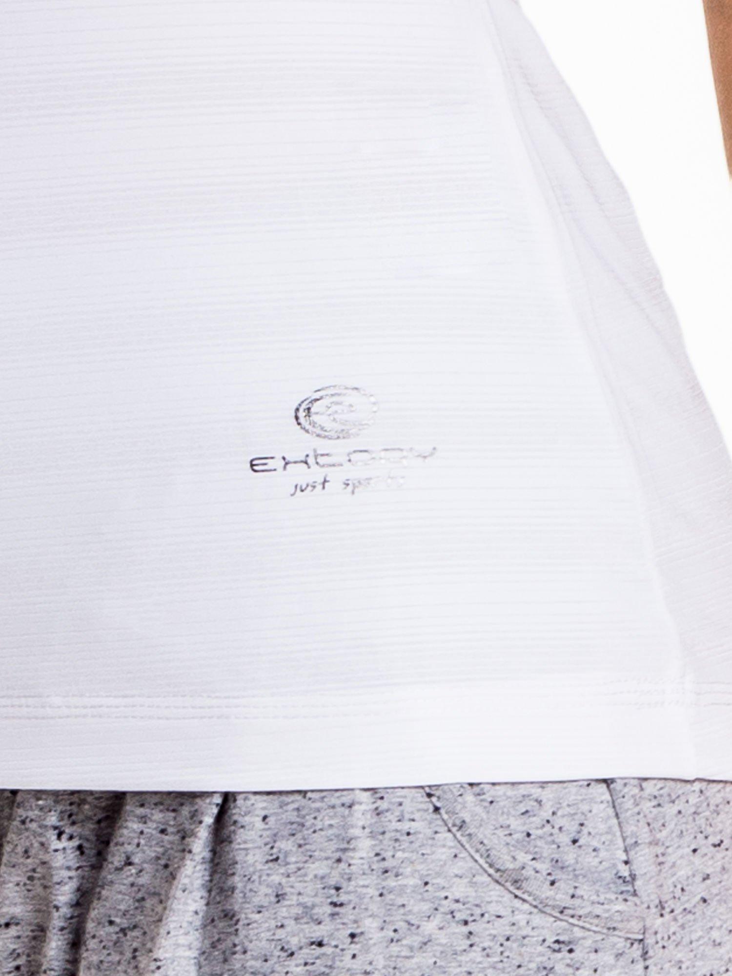 Biały damski t-shirt sportowy PLUS SIZE                                  zdj.                                  5