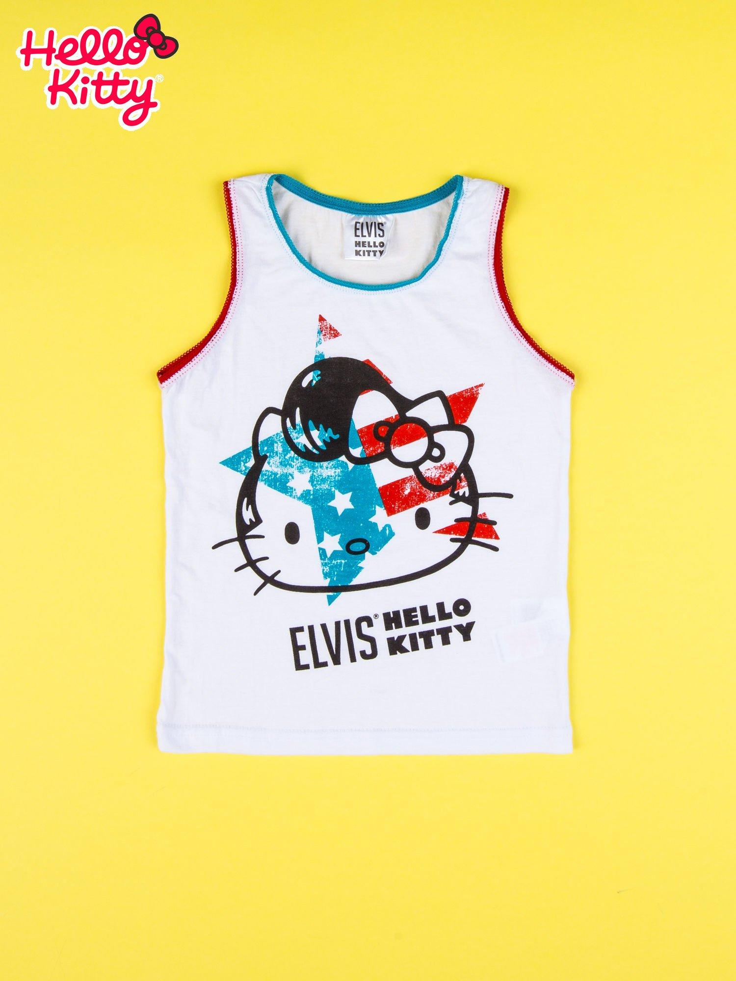Biały komplet do spania dla dziewczynki z nadrukiem ELVIS HELLO KITTY                                  zdj.                                  3