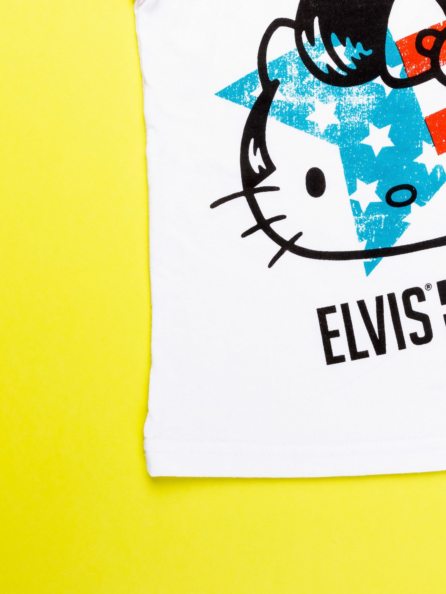 Biały komplet do spania dla dziewczynki z nadrukiem ELVIS HELLO KITTY                                  zdj.                                  6
