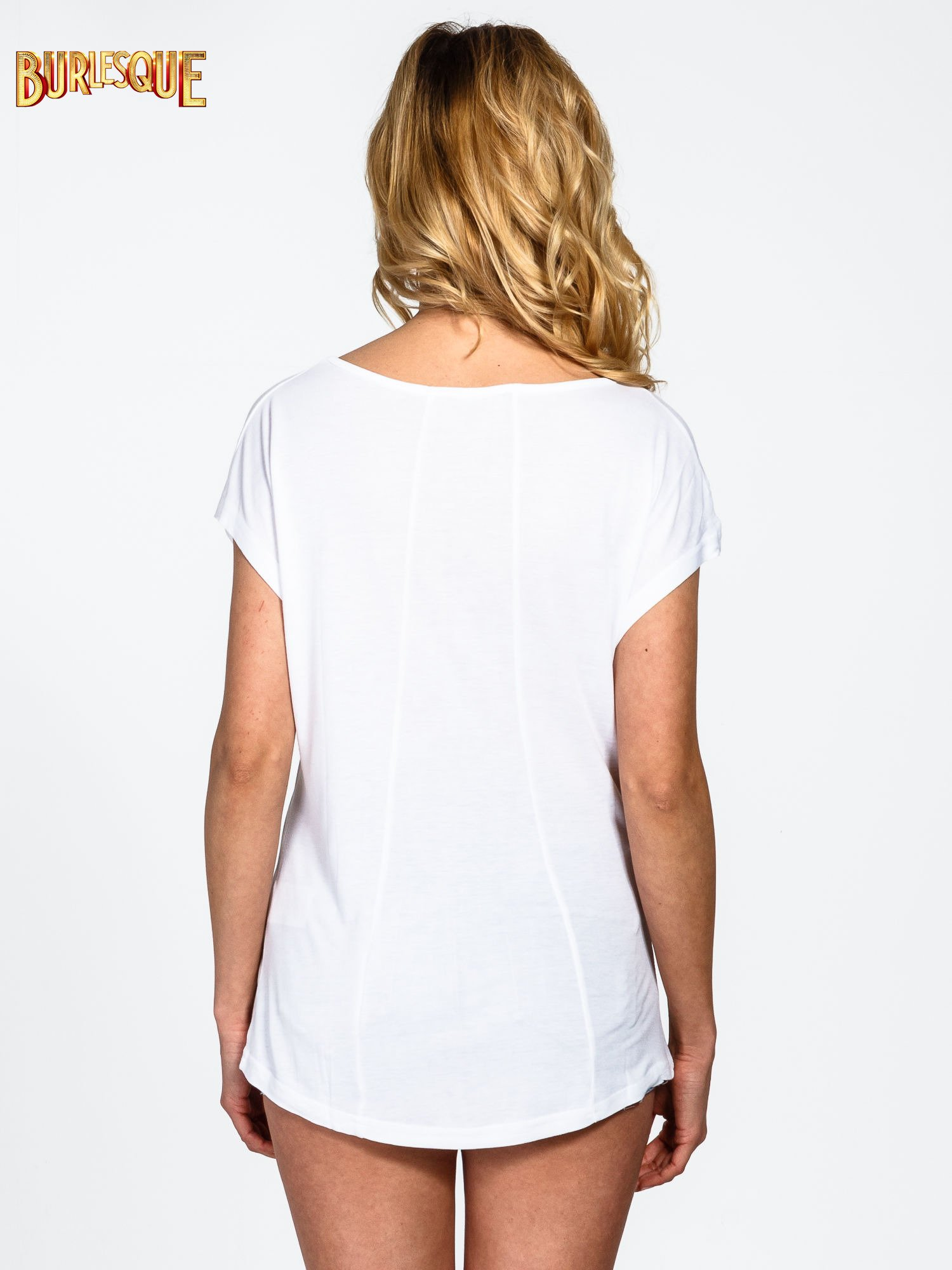 Biały t-shirt z napisem LOOK GOOD FOREVER                                  zdj.                                  4