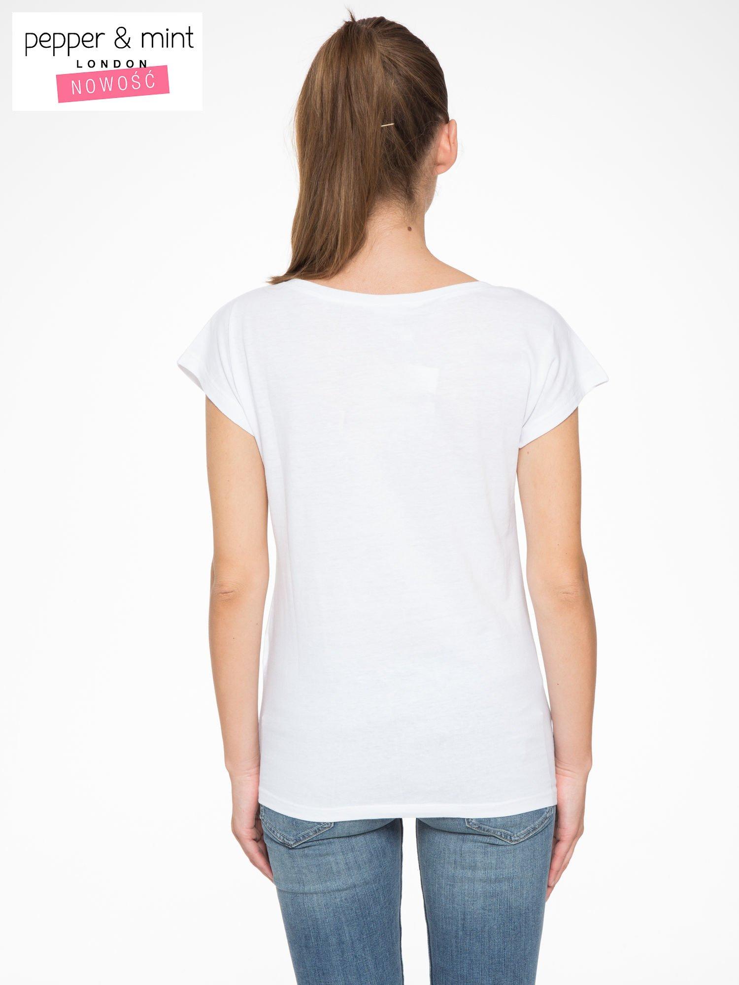 Biały t-shirt z napisem STAND BY ME                                  zdj.                                  4