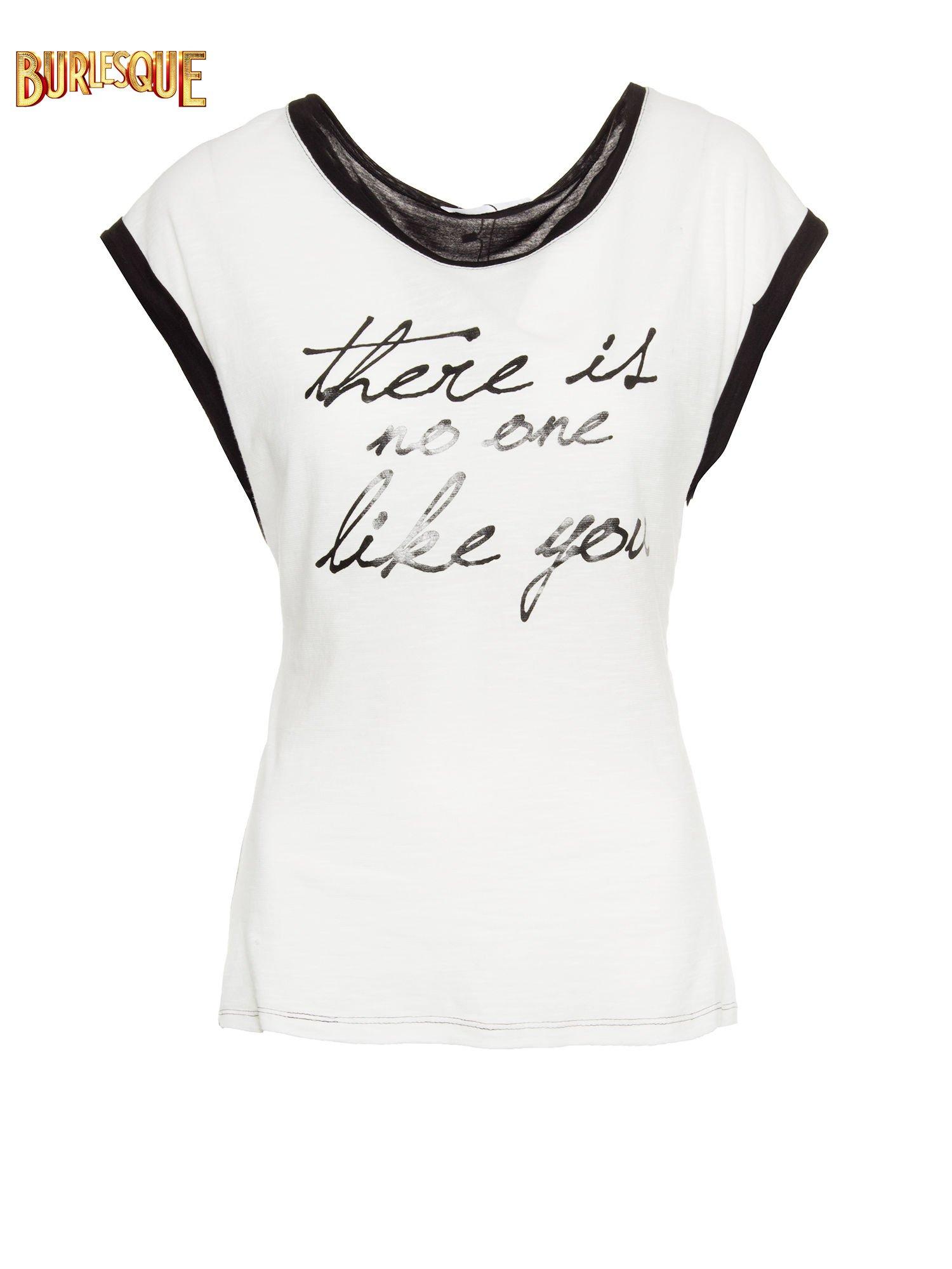 Biały t-shirt z napisem THERE IS NO ONE LIKE YOU                                  zdj.                                  7