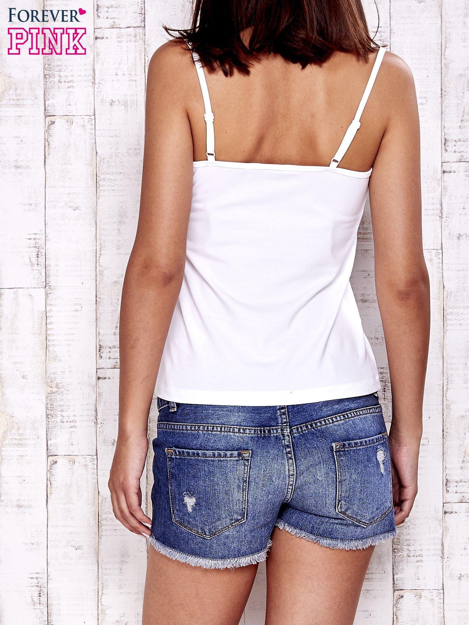Biały top basic na cienkich ramiączkach