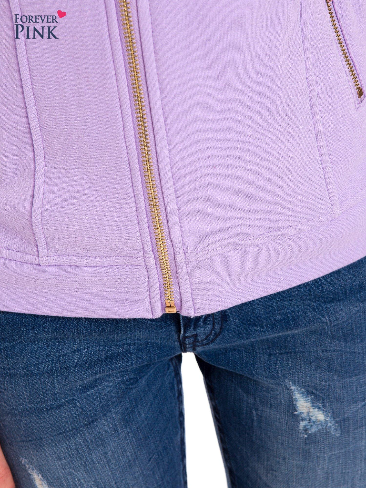 Bluza typu ramoneska w kolorze lila                                  zdj.                                  6