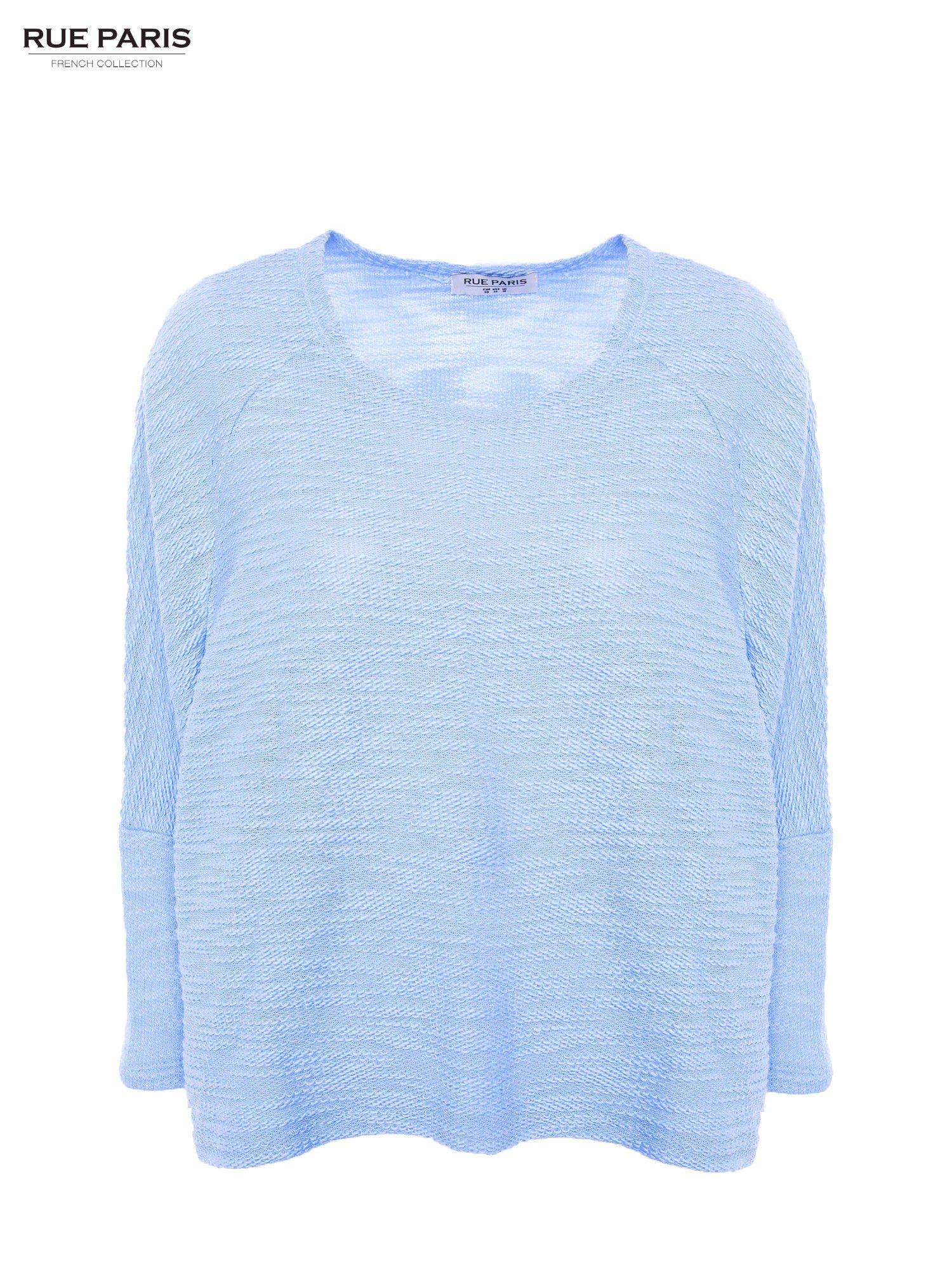 Bluzka o luźnym kroju w kolorze baby blue                                  zdj.                                  4