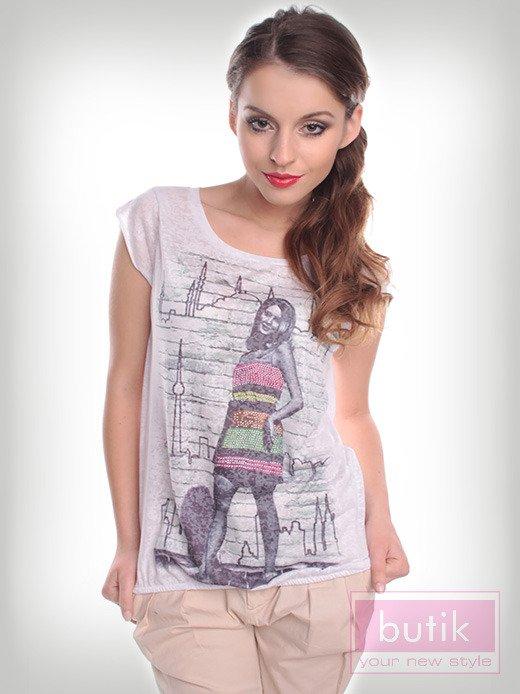 Bluzka z modnym nadrukiem                                  zdj.                                  1