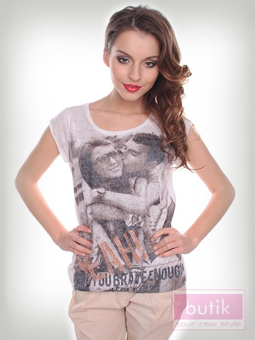 Bluzka z modnym nadrukiem                                  zdj.                                  3