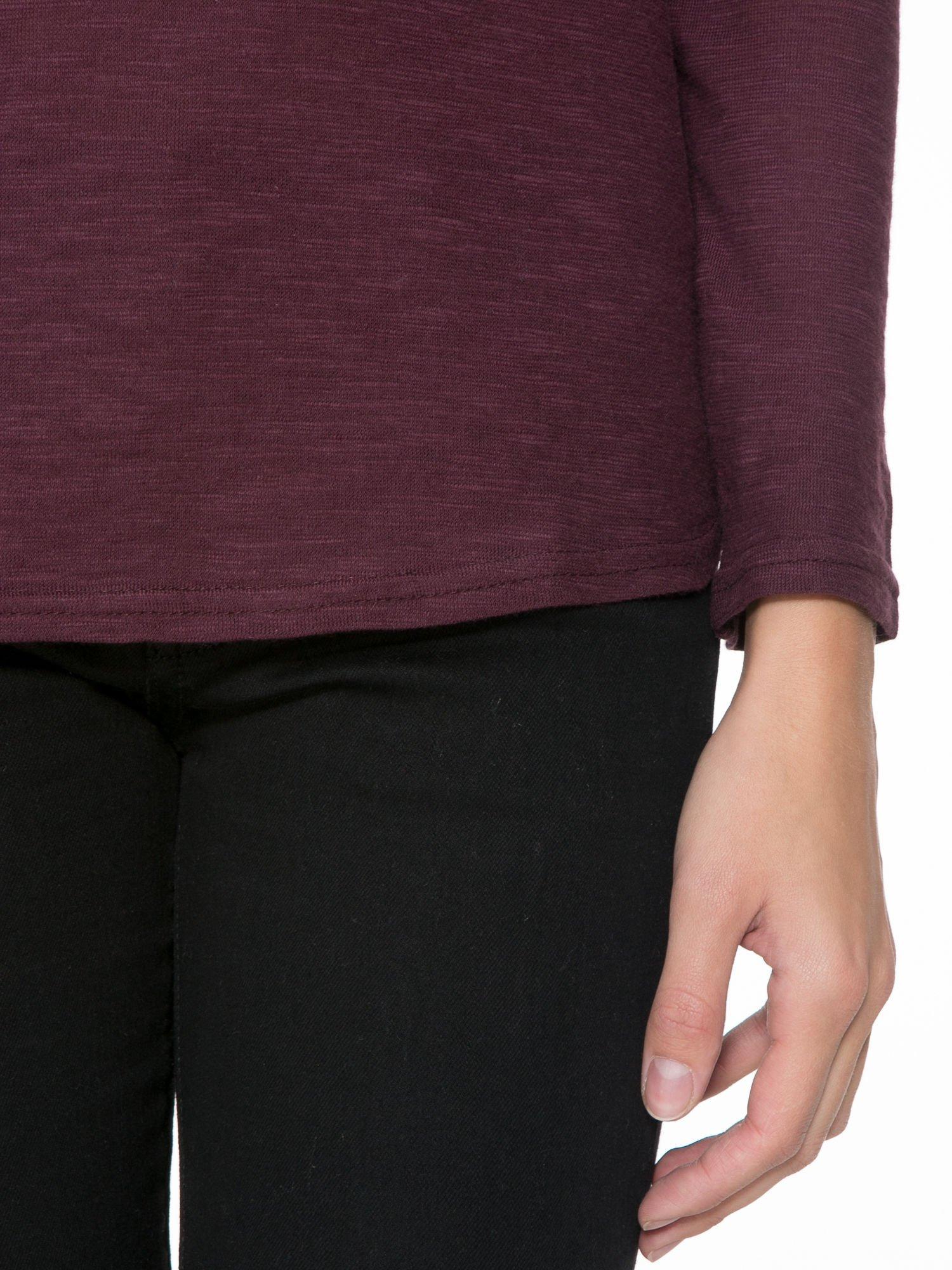 Bordowa bluzka z koronkową górą                                  zdj.                                  6