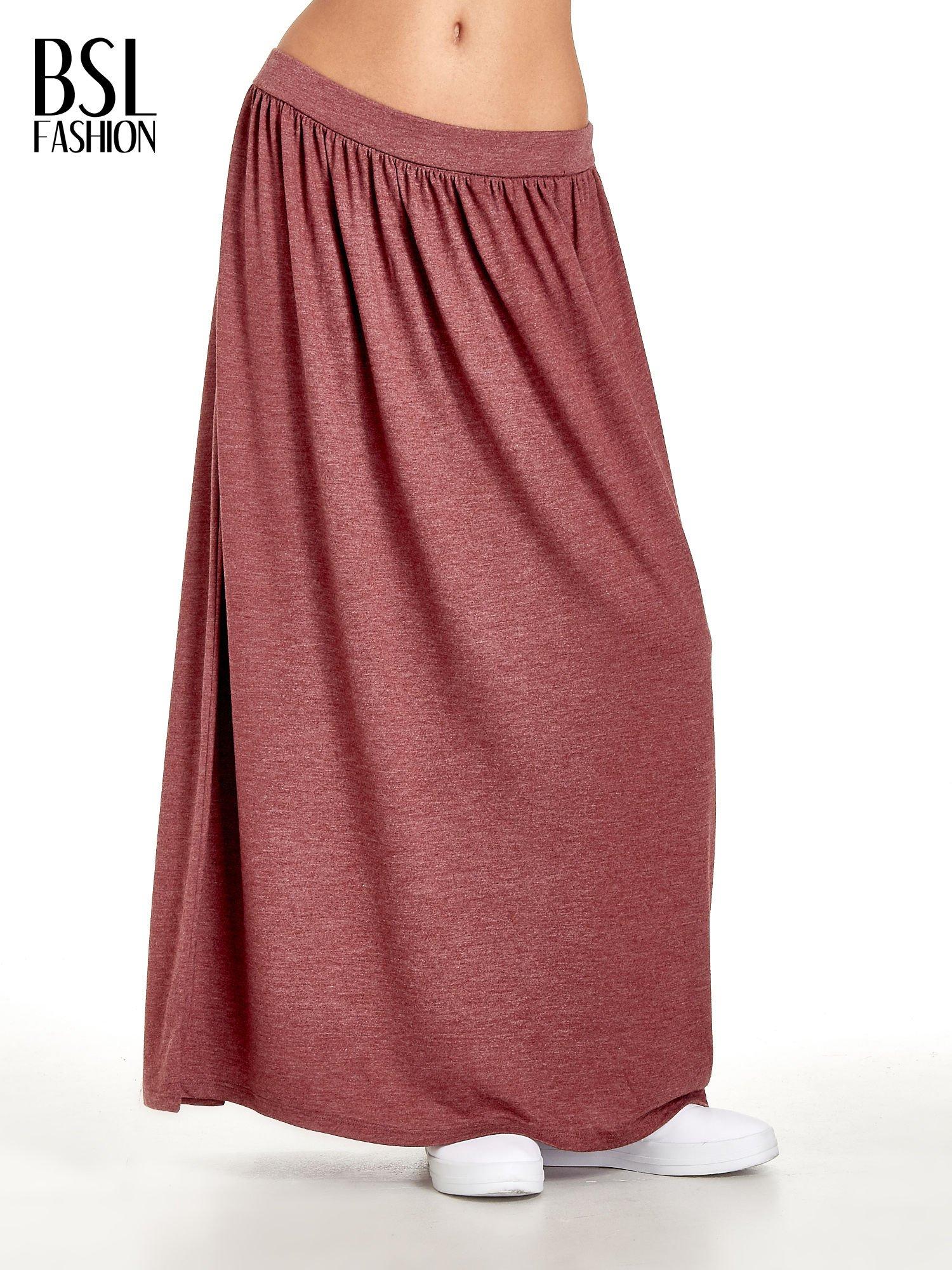 Bordowa długa spódnica maxi                                  zdj.                                  1