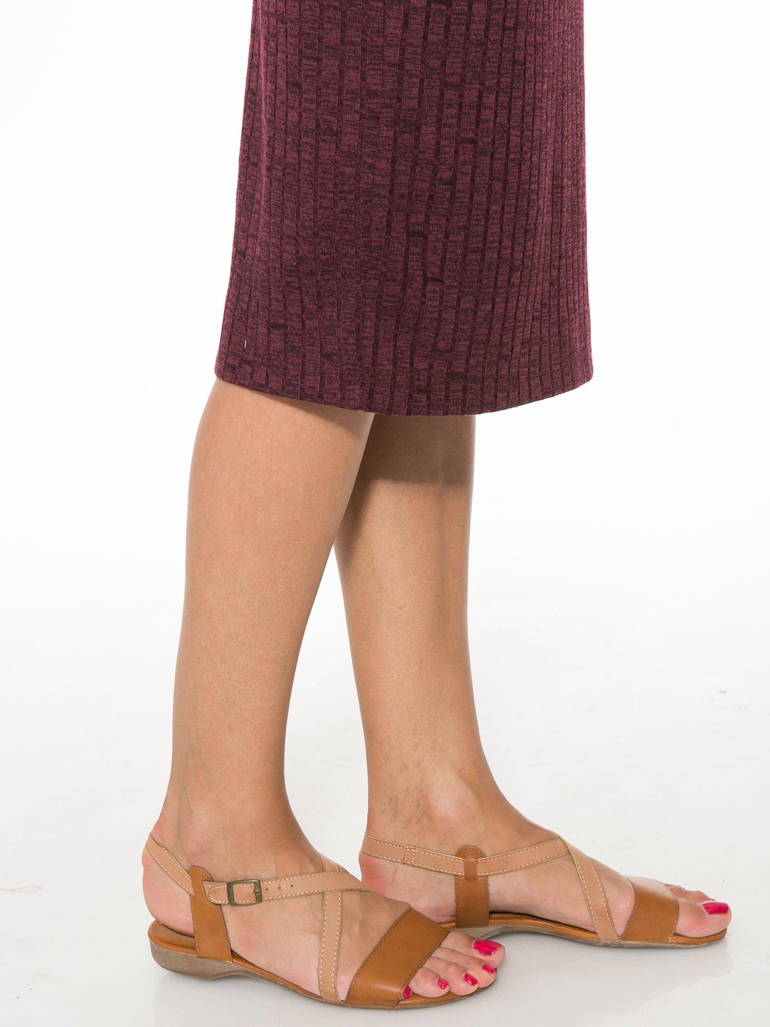 Bordowa dzianinowa spódnica za kolano                                  zdj.                                  8