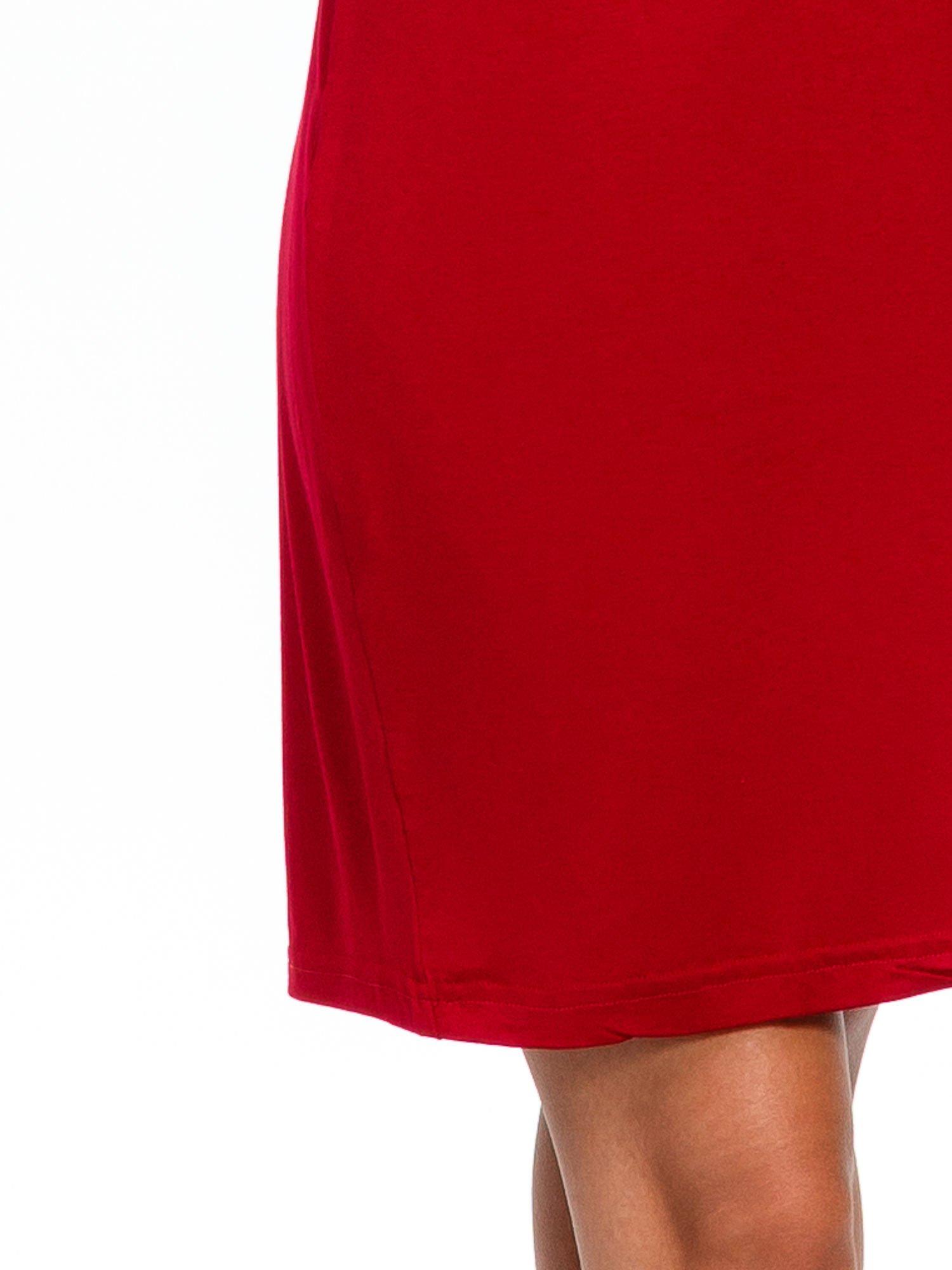 Bordowa sukienka z suwakiem                                  zdj.                                  6