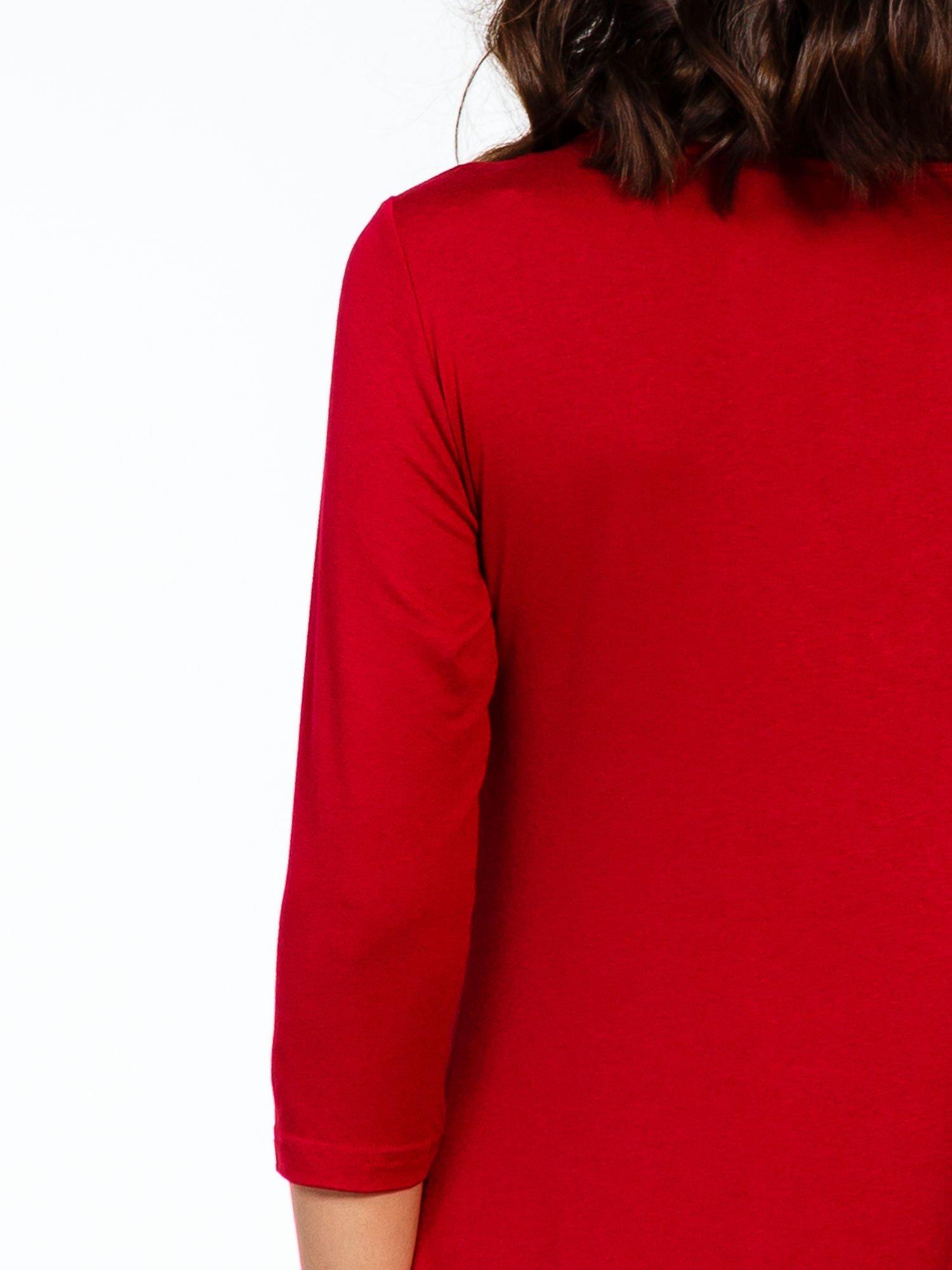 Bordowa sukienka z suwakiem                                  zdj.                                  7
