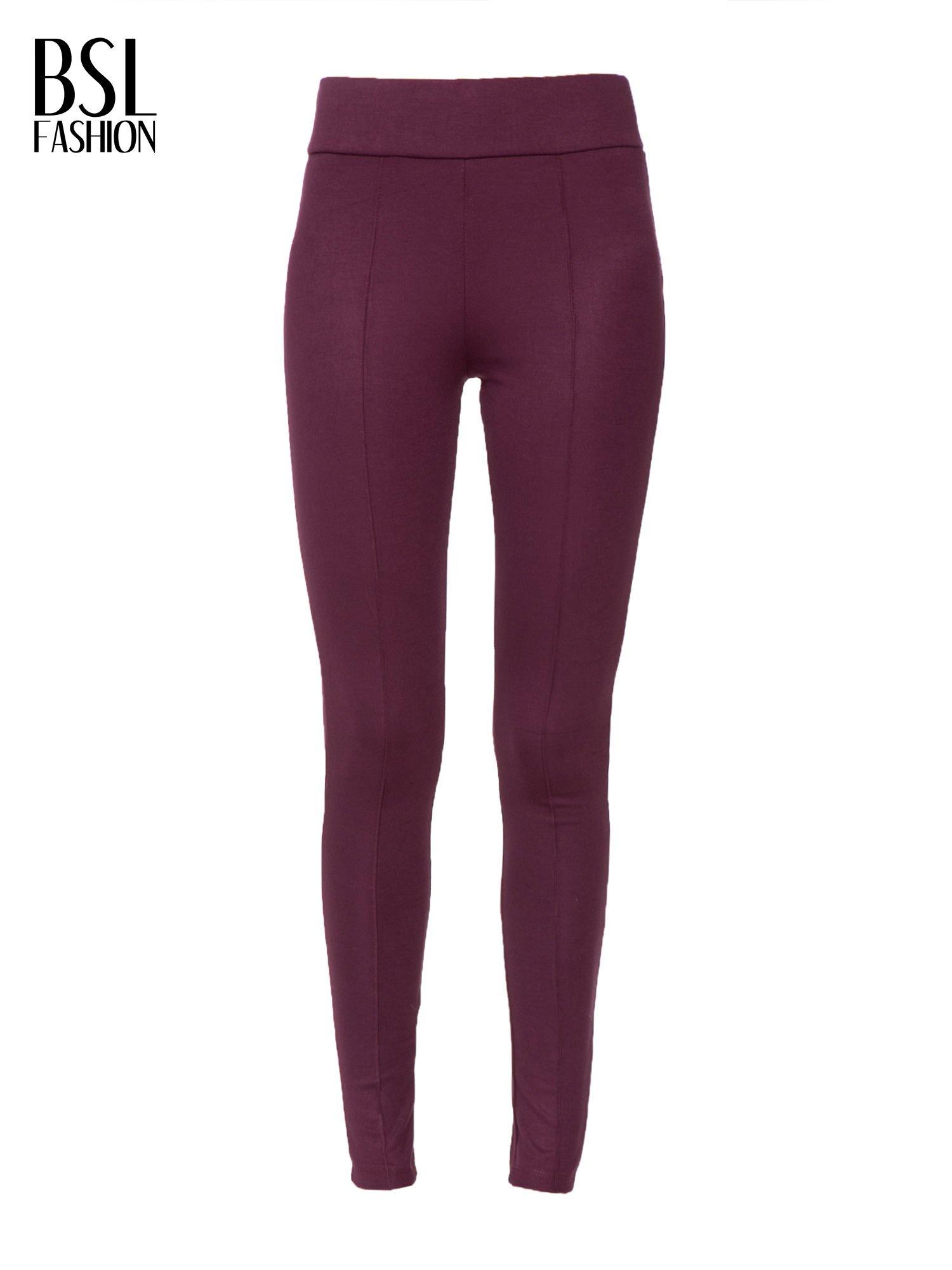 Borodowe modelujące legginsy z wysokim stanem i szwem wzdłuż nogawki                                  zdj.                                  5