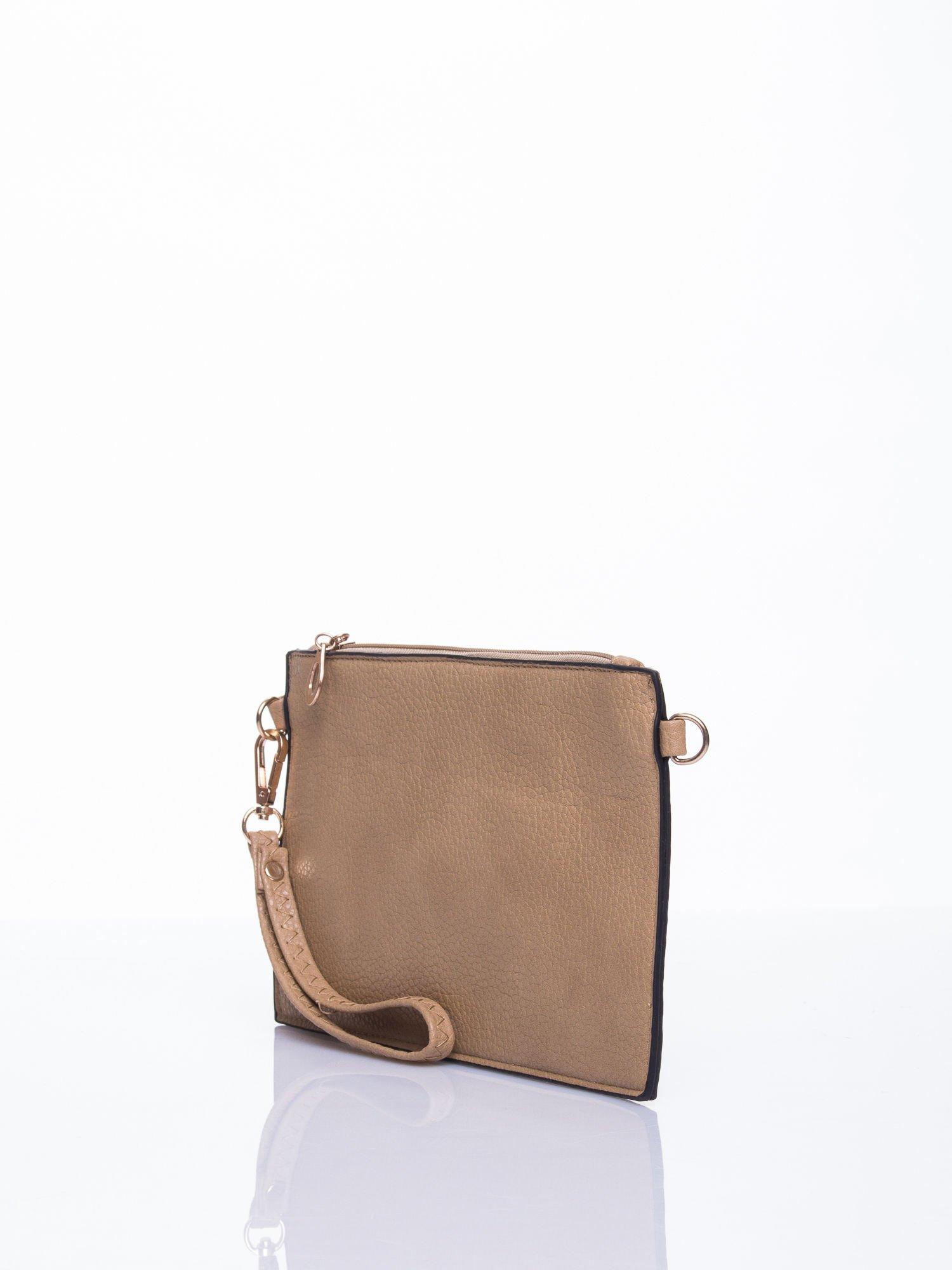 Brązowa prosta przewieszana torebka z uchwytem                                  zdj.                                  3