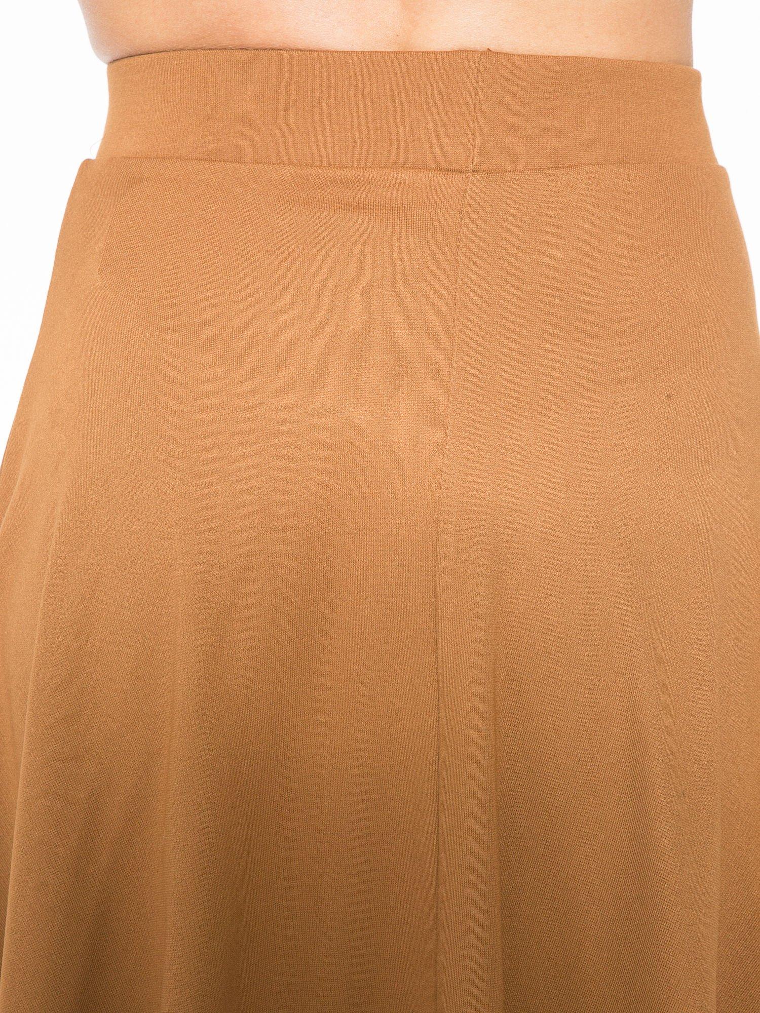 Brązowa zwiewna spódnica midi                                  zdj.                                  5