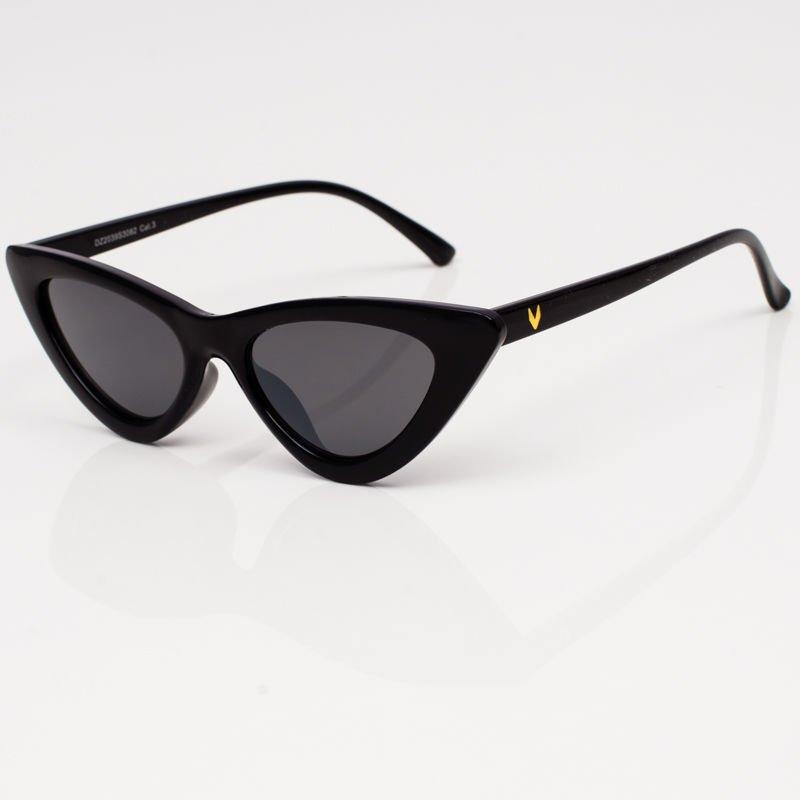 damskie okulary przeciwsłoneczne kocie oczy czarne